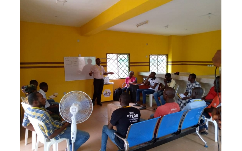 Ongoing DSA and installer training at the Lokoja office
